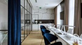 nowoczesne wnętrze spa wPoznaniu projektu HOLA Design