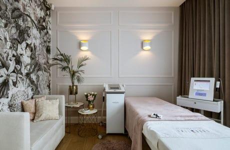 nowoczesne wnętrze spa w Poznaniu projektu HOLA Design
