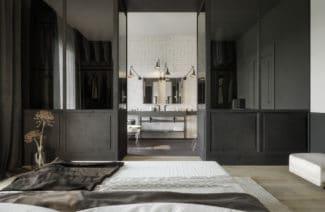projekt minimalistycznego dużego apartamentu od studio.o