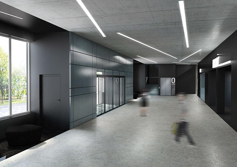 projekt holu wejściowego hali sportowej