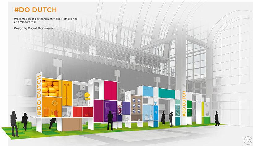 wizualizacja kolorowego stoiska targowego