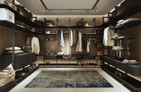 duża garderoba Komandor w brązowych kolorach
