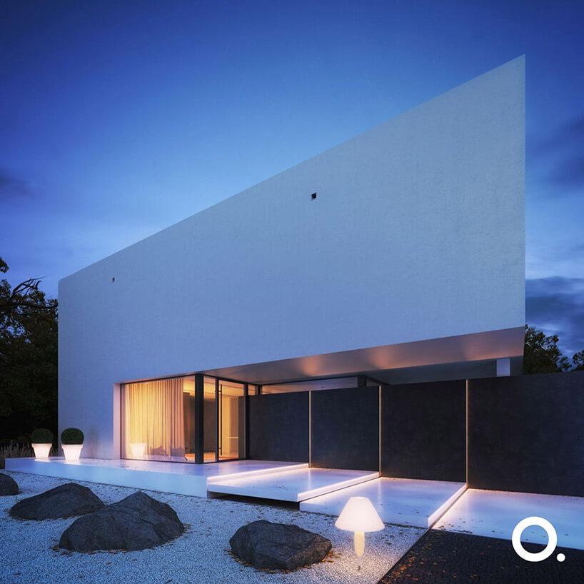 nowoczesny dom od frontu