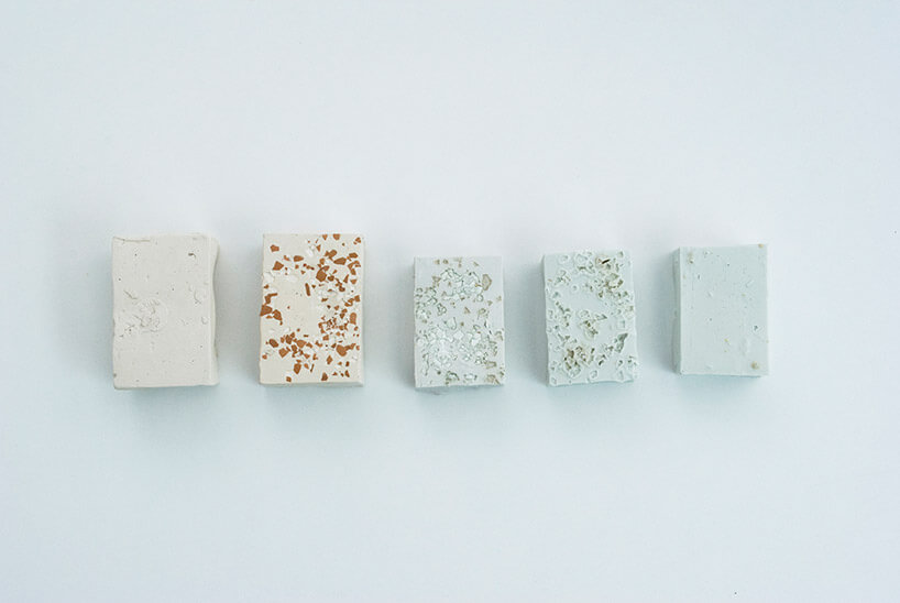 nietypowe kostki zdomieszką różnych kamieni