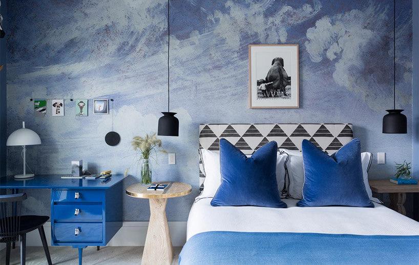pokój dziecka wniebieskich odcieniach