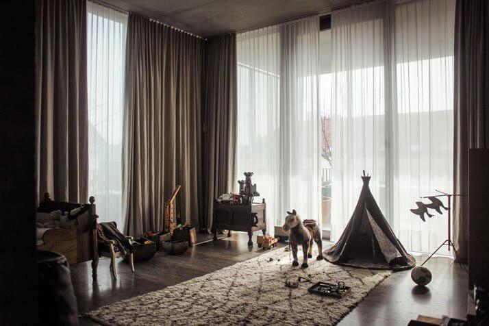 pokój dziecka wdawnym bunkrze
