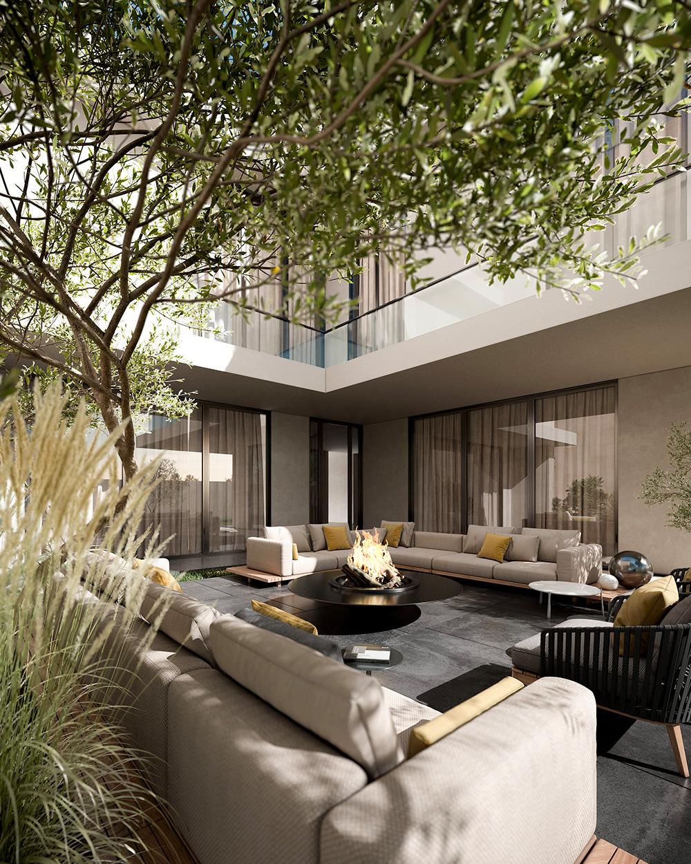 Przestrzeń jest luksusem: niebanalna 500-metrowa willa wstonowanych barwach