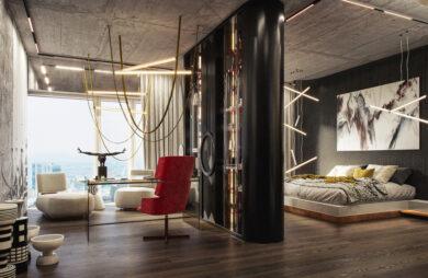 Realizm magiczny. Luksusowy apartament z oszałamiającym widokiem i znakomicie zaprojektowanym oświetleniem.