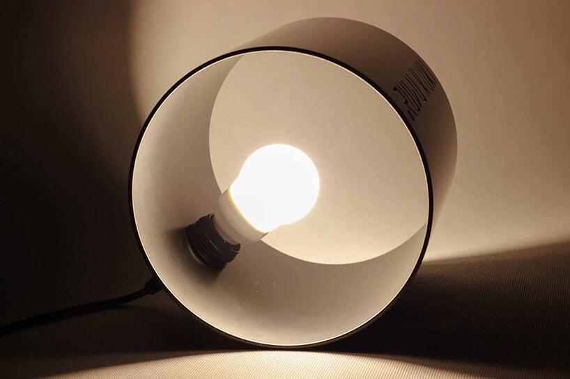 lampa wmetalowym walcu