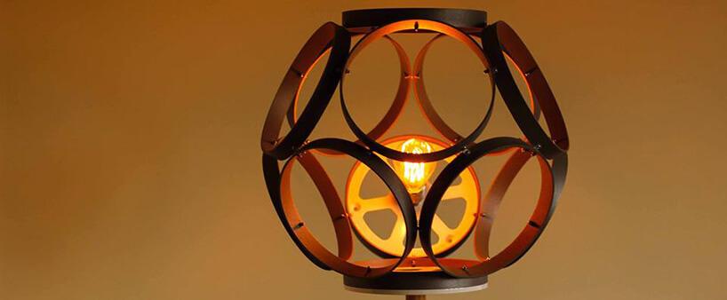 lampka zkloszem zpierścieni