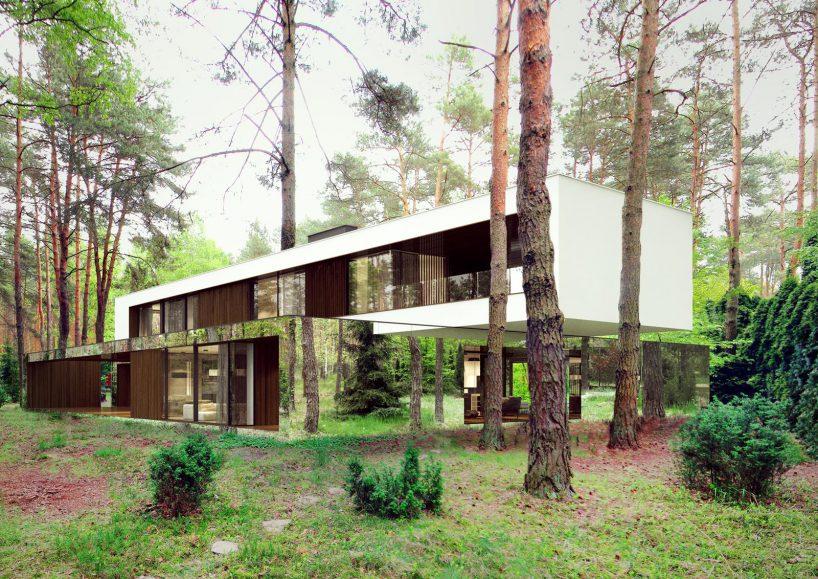 front domu lustrzane domy reform achitekt
