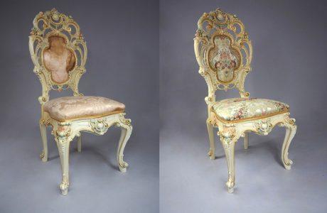 zestawienie zabytkowego fotela przed i po renowacji