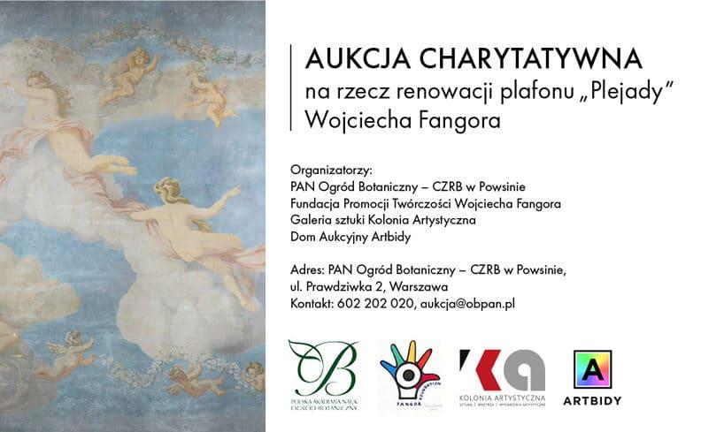 """plakat aukcji charytatywnej na rzecz renowacji plafonu """"Plejada"""""""