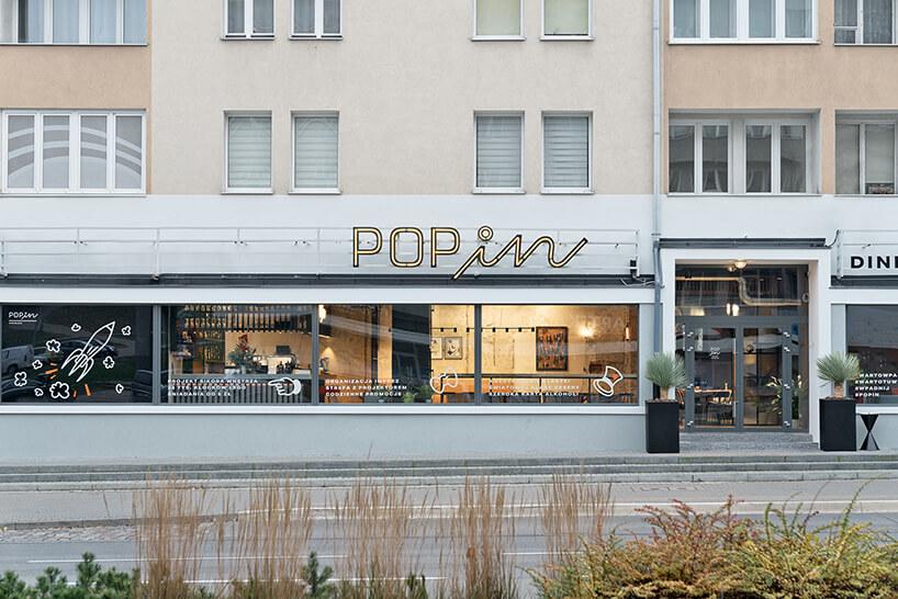 restauracja POP in projektu Sikora Wnętrza zzewnątrz