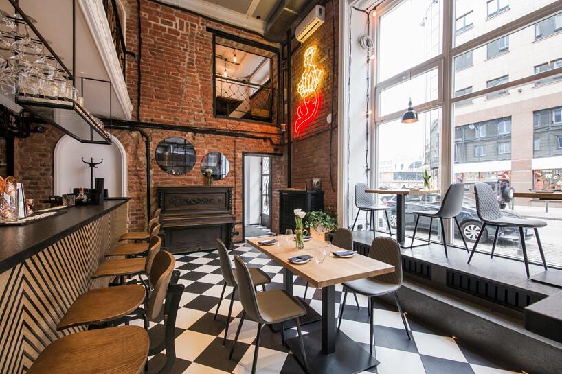 wnętrze restauracji wrestauracji Gruby Josek wstylu lat 20