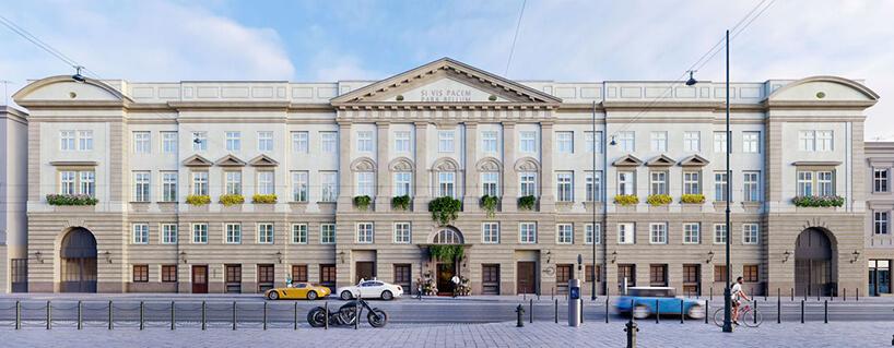 projekt frontu zrewitalizowanej kamienicy whotel Angel Stradom Kraków