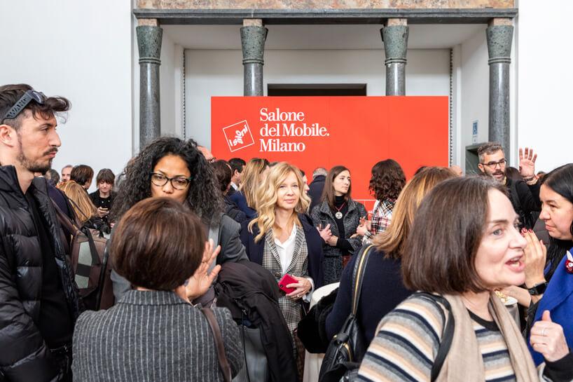 goście podczas konferencji prasowej Salone del Mobile 2019