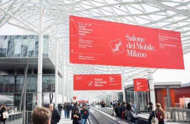 Salone del Mobile.Milano 2019 przy wejściu na targi