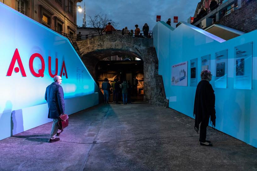 ekspozycja zewnętrza Aqua podczas Salone del Mobile 2019