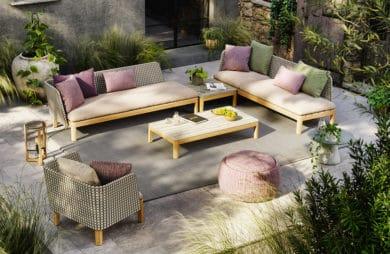 Salonowe kształty mebli ogrodowych: meble na taras i do ogrodu