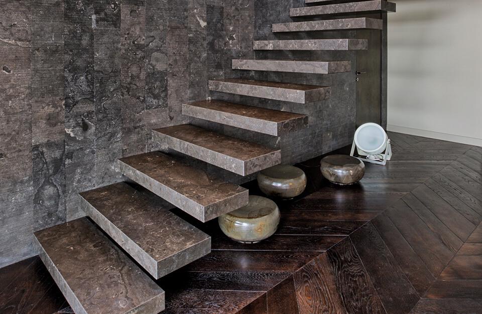 Schody Z Kamienia W Domu Jednorodzinnym Marmur Granit Co