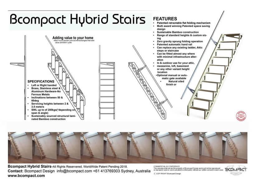 Parametry schodów BCompact