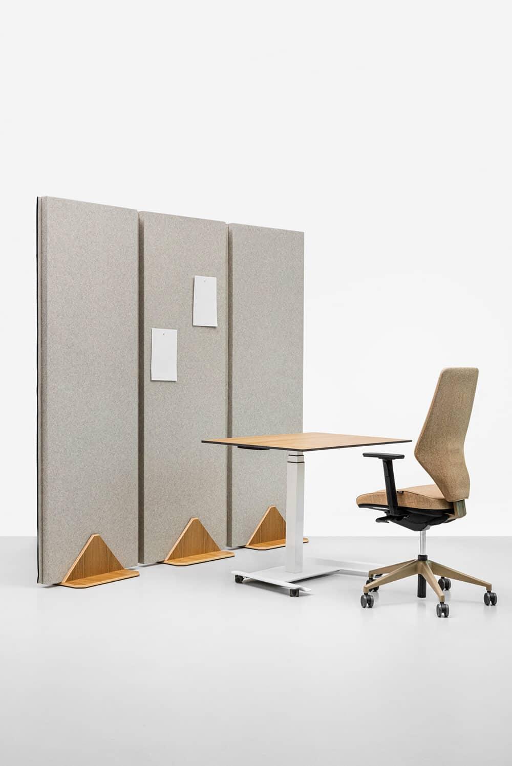 Ścianki akustyczne iboksy do biura idomu: VANK_WALL_3