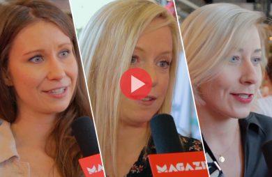 trzy blogerki podczas wywiadu dla MAGAZIF podczas See Blogers 2019 Łódź