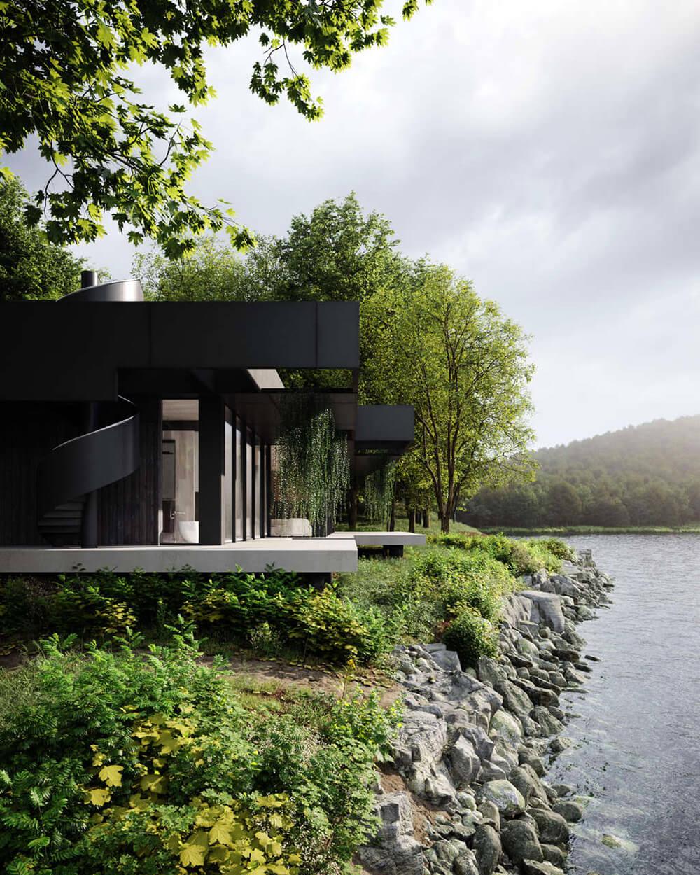 Siedlisko nad jeziorem dla eko-entuzjastów