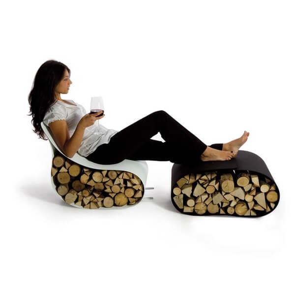 nietypowe elastyczne krzesło