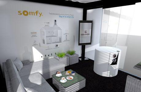 wizualizacja stoiska Somfy na 4 Design Days