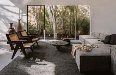 Spokojna przystań w dzungli minimalistyczny dom w tulum