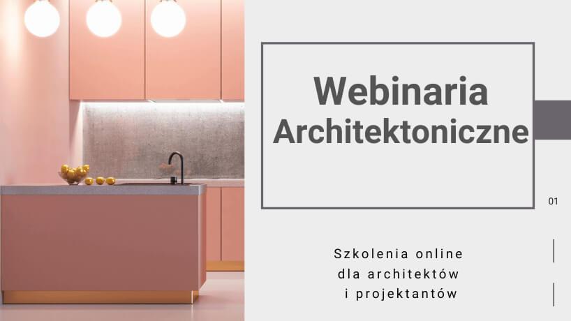plakat zapraszający na Webinaria Architektoniczne od Virtus Studio
