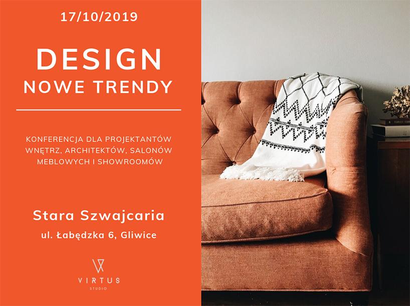 zaproszenie na spotkanie Design Nowe Trendy Gliwice