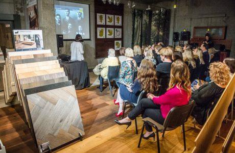 goście podczas prezentacji firmy Listone Giordano