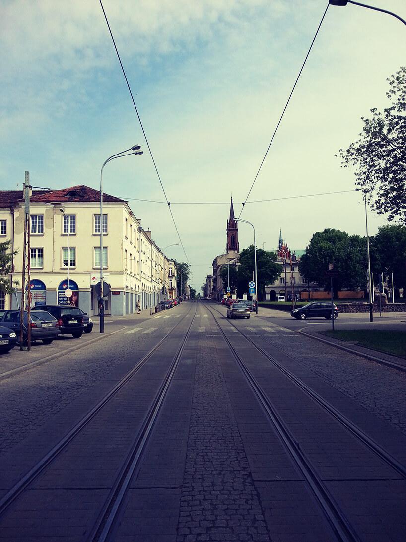 widok na ulicę Zgierską wkierunku północny