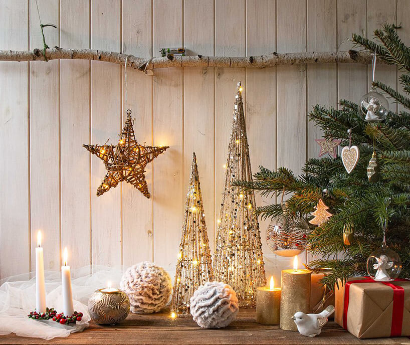 ozdoby świąteczne wformie choinek
