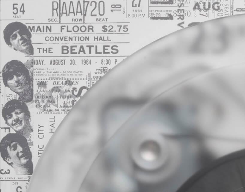 detal wykończenia gramofonu The Beatles
