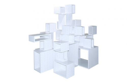 biały system meblowy do aze beton