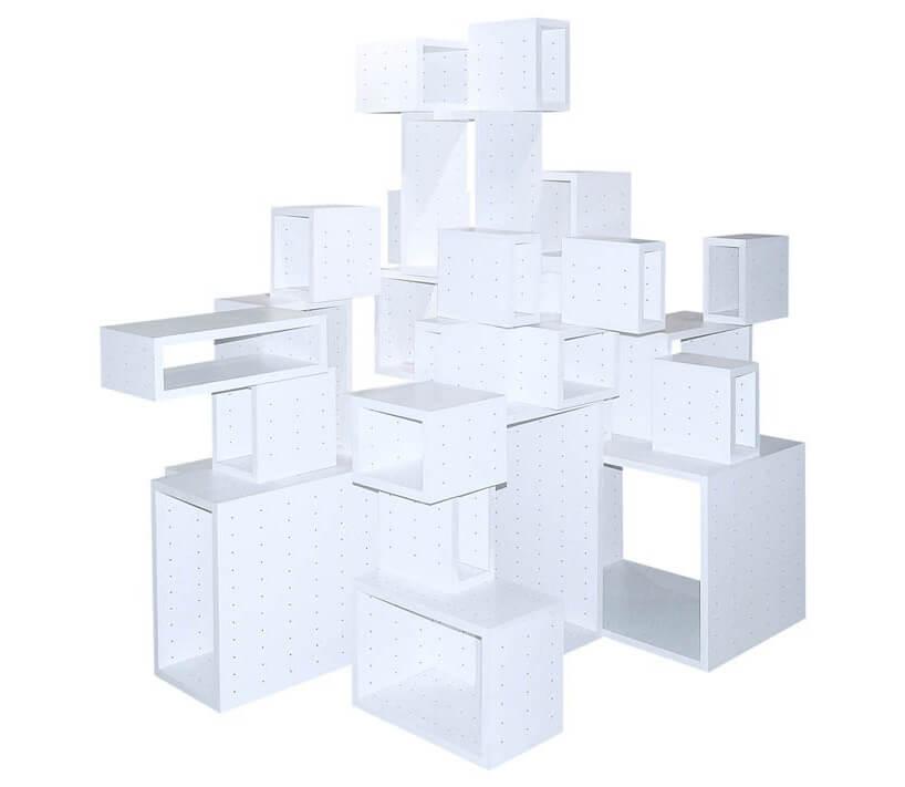 metalowy modularny regał