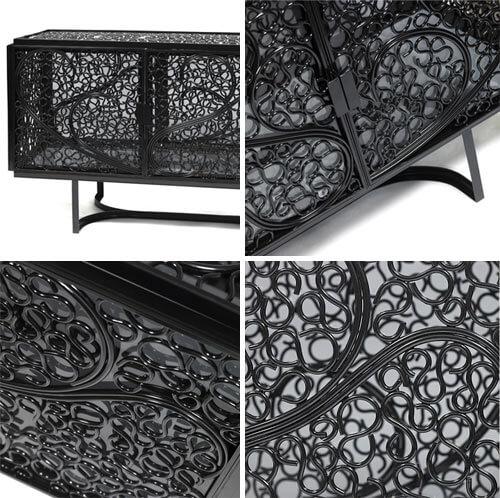 czarna metalowa szafka