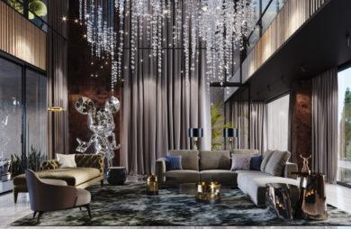 Szklana Myszka Miki i deszcz meteorów: piękna willa w Dubaju