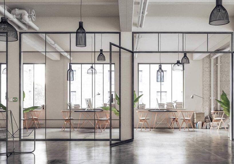 szklane ściany działowe wopen space