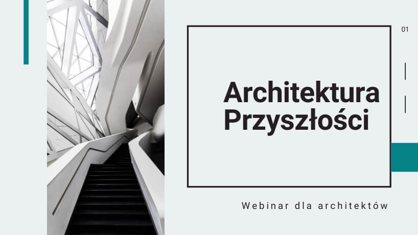 """zaproszenie na webinar dla architektów """"Architektura Przyszłości"""" od Virtus Studio"""