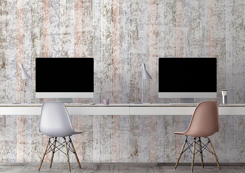 tapeta imitująca drewno wskandynawskim styulu