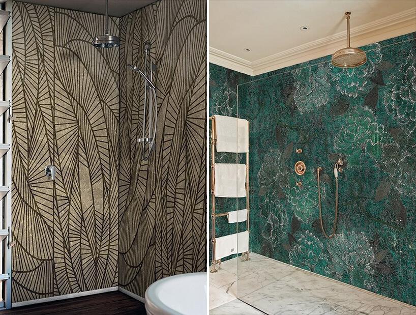 winylowa tapeta pod prysznicem