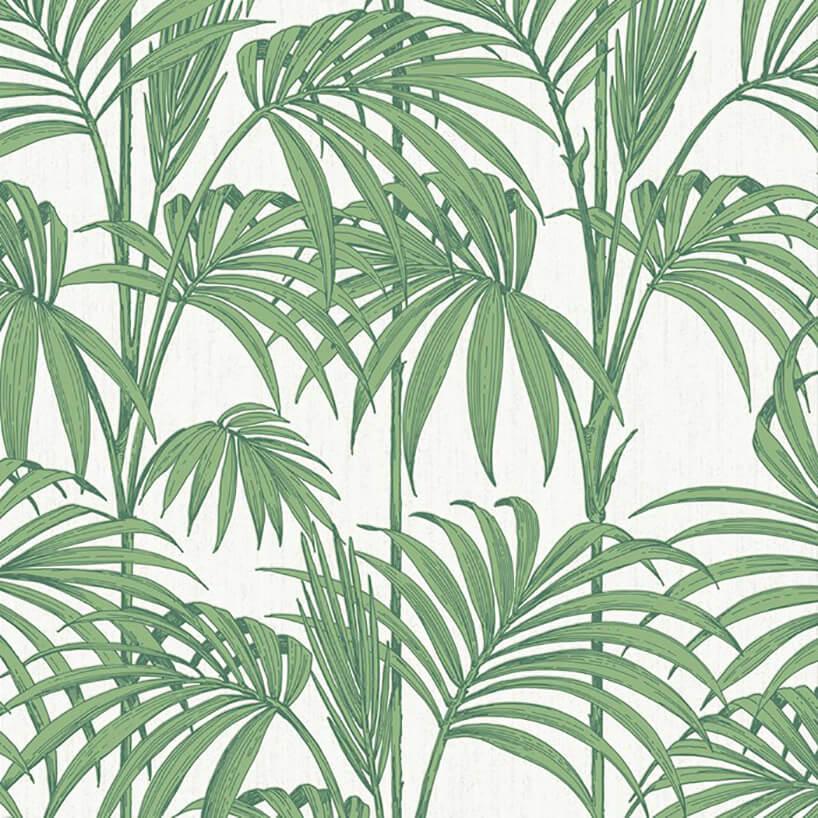 tapeta zmotywem zielonych liści