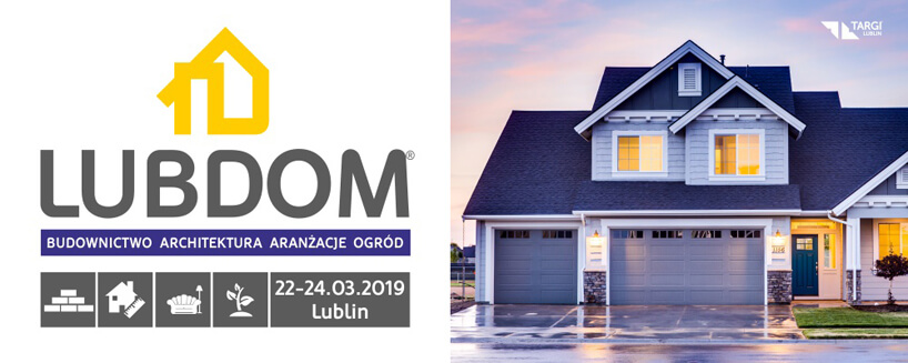 plakat targi budowlane LUBDOM 2019