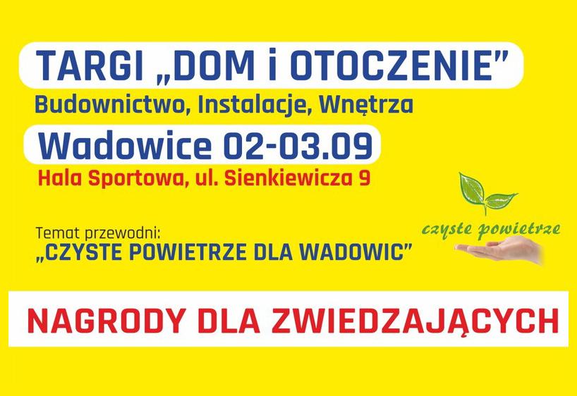 zaproszenie na Targi Dom iOtoczenie 2019 Wadowice
