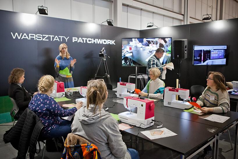 uczestnicy podczas warsztatów PATCHWORK na HOME DECOR 2020